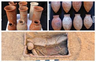 الكشف عن 83 مقبرة بمنطقة آثار كوم الخلجان في الدقهلية | صور