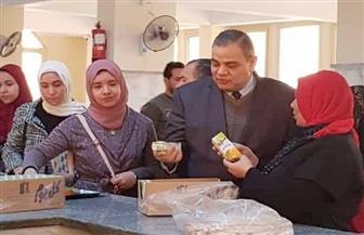 رئيس جامعة كفرالشيخ يتفقد مطعم المدينة الجامعية | صور