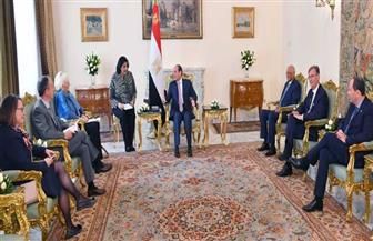 الرئيس السيسي يستقبل وفد مجموعة الصداقة الفرنسية ـ المصرية بمجلس الشيوخ الفرنسي | صور