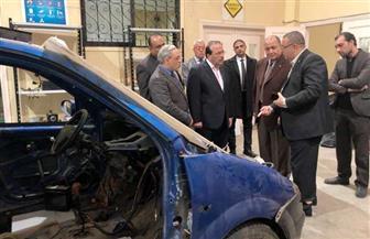 رئيس جامعة طنطا يشيد بمعمل محركات الاحتراق الداخلى بكلية الهندسة | صور