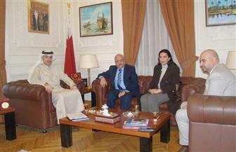 سفير البحرين بالقاهرة يستقبل الأمين العام المساعد رئيس قطاع الإعلام والاتصال بجامعة الدول العربية