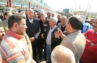 بدء التشغيل التجريبي لموقف القاهرة الجديد بمدينة كفرالشيخ   صور