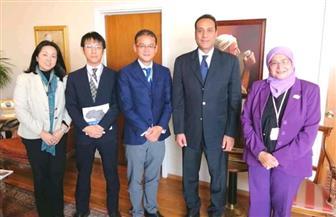 أمين عام الوكالة المصرية للشراكة من أجل التنمية يستقبل مدير وكالة التعاون الدولي اليابانية بالقاهرة | صور