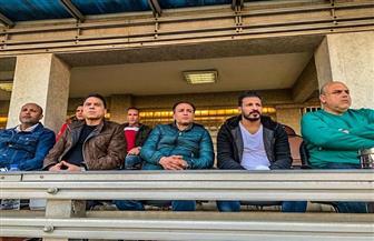 حسام البدري وجهاز المنتخب يتابعون مباراة الاتحاد وأسوان