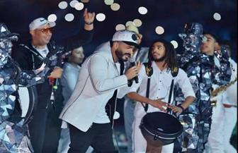"""وسط حضور جماهيري كبير.. """"تامر حسني"""" يحيي حفلا غنائيا كبيرا باستاد القاهرة احتفالا بعيد الحب"""