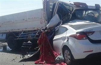 مصرع 3 أشخاص وإصابة 2 في حادث تصادم بمحور المريوطية
