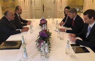 خلال لقائه مستشار الأمن القومي الألماني.. شكرى يؤكد أهمية مواصلة التنسيق حول القضايا المشتركة | صور
