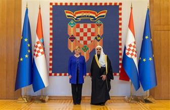 رئيسة كرواتيا تستقبل أمين عام رابطة العالم الإسلامى وتشيد بجهود الرابطة
