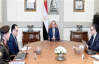 الرئيس السيسي يتابع الموقف التنفيذي ومعدلات الإنجاز بمشروع المتحف المصري الكبير