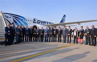 وزير الطيران المدني يستقبل طائرة مصر للطيران الأولى من طراز الإيرباص A320 neo