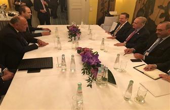 """""""شكري"""" يبحث مع نظيره العراقي سُبل تعزيز التعاون الثنائي وتطورات الأوضاع الإقليمية"""