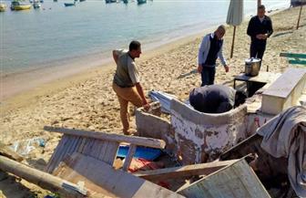 حملة مكبرة لإزالة الإشغالات الحاجبة لرؤية البحر بحي الجمرك بالإسكندرية | صور