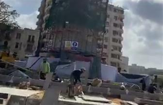 رئيس الوزراء يتفقد أعمال التطوير بميدان التحرير