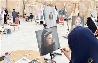 """""""الرسم في الهواء الطلق"""" فعالية فنية سعودية بمحافظة الأحساء"""