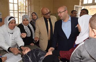 بدء الحملة القومية للتطعيم ضد مرض شلل الأطفال في بني سويف   صور