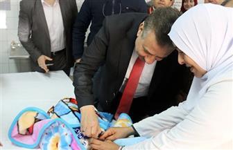 انطلاق الحملة القومية للتطعيم ضد مرض شلل الأطفال في المركز الصحى بشبين الكوم | صور