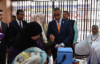 انطلاق الحملة القومية للتطعيم ضد مرض شلل الأطفال في الفيوم | صور