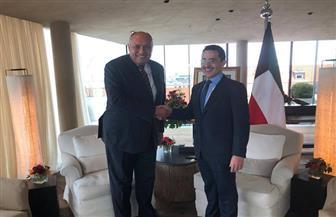 شكري يؤكد لنظيره الكويتي تطلع مصر لاستضافة الدورة المقبلة من اللجنة الوزارية المشتركة الشهر المقبل | صور