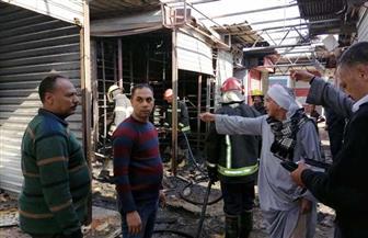 السيطرة على حريق في سوق الباعة الجائلين بالغردقة |  صور