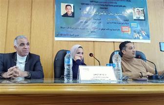 شريف أسعد وآية عبد الرحمن يقدمان نصائح لشباب الكتاب والإعلاميين.. في آداب الإسكندرية