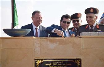 وزير الرياضة ورئيس الأهلي يضعان حجر أساس فرع القاهرة الجديدة | صور