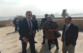 السفير الأمريكي يزور قلعة قايتباي بالإسكندرية | صور