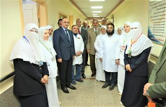 محافظ كفرالشيخ يتفقد أقسام مستشفى العبور للتأمين الصحي | فيديو وصور