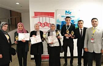 """فريق جامعة حلوان يحصد المراكز الأولى في المسابقة الوطنية """"SOLE Season 7"""""""