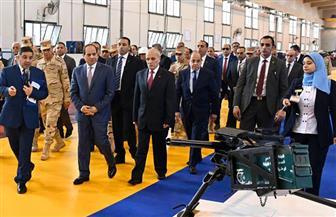 تفاصيل افتتاح الرئيس السيسي مصنع 300 الحربي بشركة أبو زعبل للصناعات المتخصصة | صور