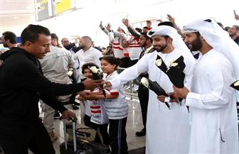 جماهير الزمالك ومجلس أبوظبي الرياضي يستقبلون لاعبي الفريق بالمطار | صور