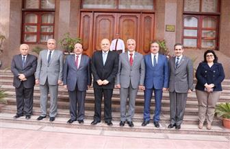 رئيس جامعة المنوفية يستقبل محافظي الغربية والمنوفية ورئيس جامعة طنطا| صور