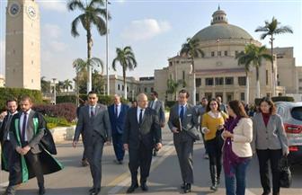 رئيس جامعة القاهرة يلتقي السفير الفرنسي بالقاهرة لبحث التوسع في البرامج التعليمية المشتركة| صور