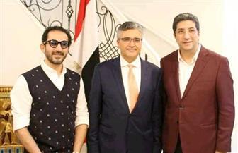 قنصل مصر العام يستقبل المستشار رمزي وأحمد حلمي في ملبورن | صور