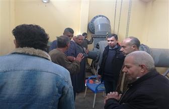 لجنة تعاين محطة مياه كفر ديما بالغربية وتوصي بتركيب فلاتر منعا للتلوث | صور