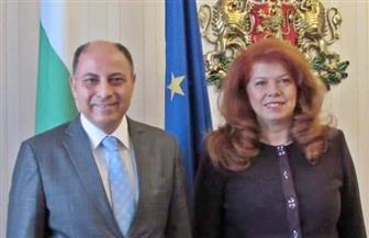 سفير مصر في صوفيا يلتقي نائبة رئيس الجمهورية البلغاري| صور