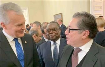 """رئيس ليتوانيا لـ""""القفاص"""": حريصون على تعزيز العلاقات الاقتصادية مع مصر"""