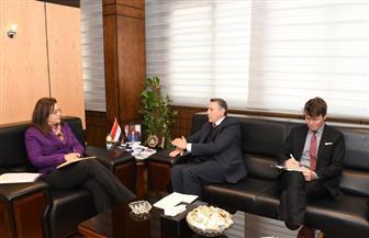 وزيرة التخطيط تبحث مع السفير الألماني التعاون بين البلدين