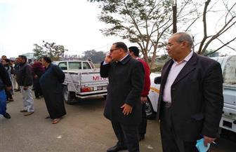 محافظ الشرقية يشرف على إزالة مبان مخالفة في أبو كبير| صور