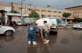 مياه المنوفية... تتعامل مع تجمعات الأمطار بأماكن متفرقة بالمحافظة | صور
