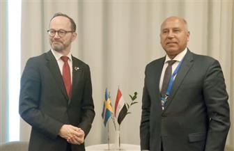 وزيرالنقل يبحث مع وزير البنية التحتية السويدي التعاون في مجالات النقل والطرق ومشروع الحافلات السريعة BRT   صور