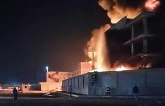 اندلاع حريق هائل بأحد مصانع إنتاج الفوم جنوب بورسعيد | صور