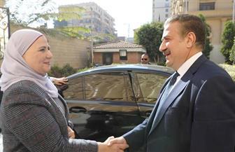 محافـظ المنوفية يستقبل وزيرة التضامن الاجتماعى بمكتبه بالديوان العام | صور