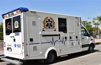 وصول سيارة إسعاف ذاتية التعقيم بتكلفة 5.5 مليون جنيه لمطار أسوان | صور