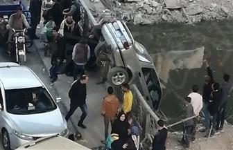 «العناية الإلهية» تنقذ قائد سيارة من الموت في المريوطية | صور