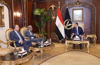 اللواء محمود توفيق يستقبل أمين عام مجلس وزراء الداخلية العرب