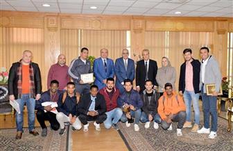 جامعة المنصورة تكرم الفائزين بالملتقى الأول الرياضي للوافدين | صور