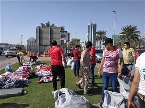 أعلام وقمصان الأهلي والزمالك تزين محيط ملعب محمد بن زايد |صور