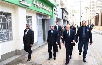 وزير العدل ومحافظ بورسعيد يتفقدان أعمال تطوير قاعات مجمع المحاكم | صور