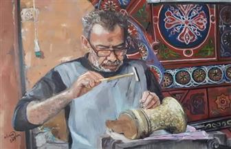 """""""أحلام ملونة"""" معرض جديد للفنانة نشوى عمران في متحف محمود مختار   صور"""
