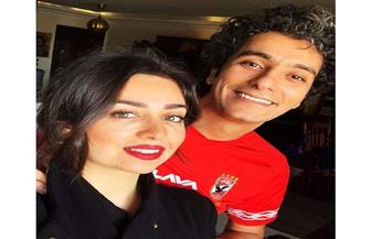 هبة مجدي وزوجها يدعمان الأهلي في لقاء السوبر | صور